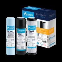 Улучшенный комплект картриджей Ecosoft 1-2-3 для систем обратного осмоса